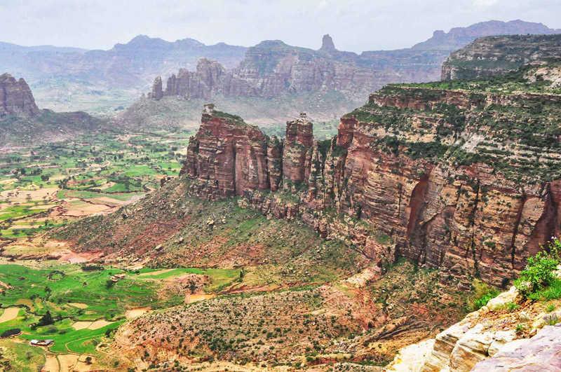 Montañas y desfiladeros en Etiopía