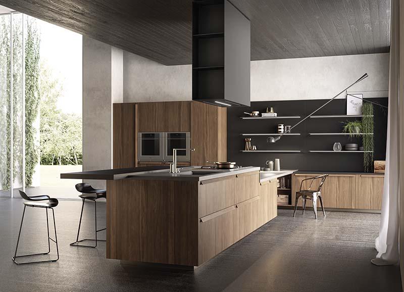 Cocina de diseño rustico moderno