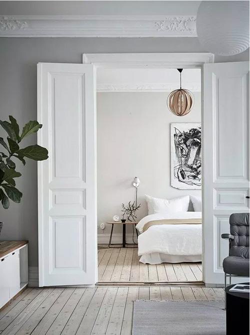 Tonos de color blanco en una habitación