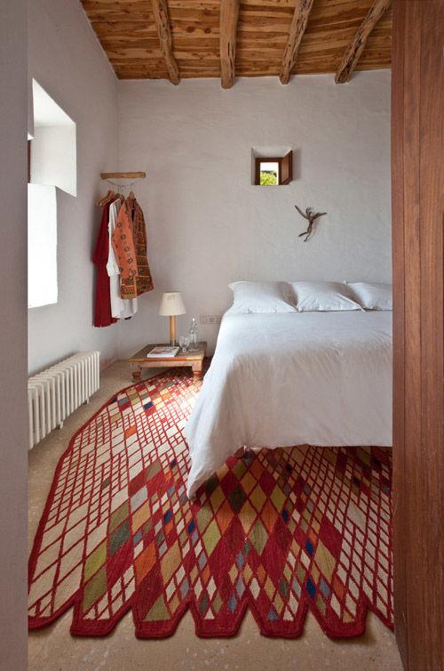 dormitorio de una casa de ibiza