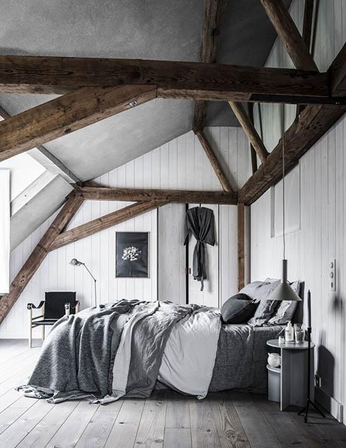 Dormitorios de estilo nórdico rústico