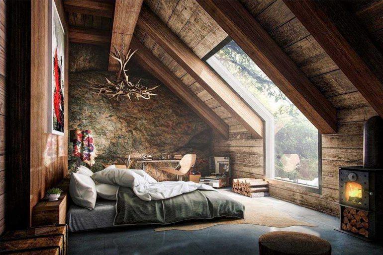 Habitaciones de estilo rústico