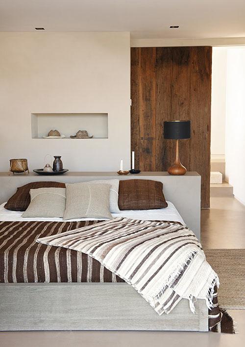 dormitorio rustico de una casa de playa