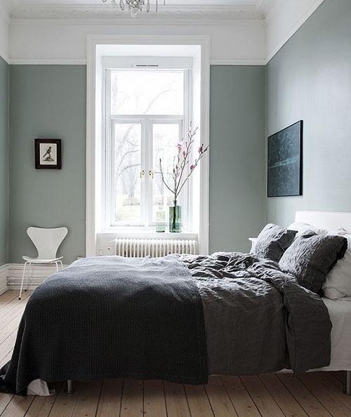 dormitorios de color verde