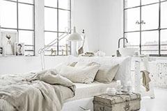 dormitorio de color blanco