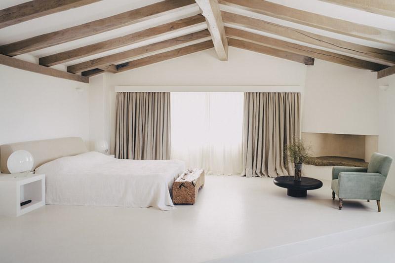 decoración minimalista de una casa de campo