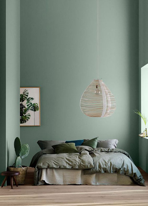 como decorar una habitación en color verde