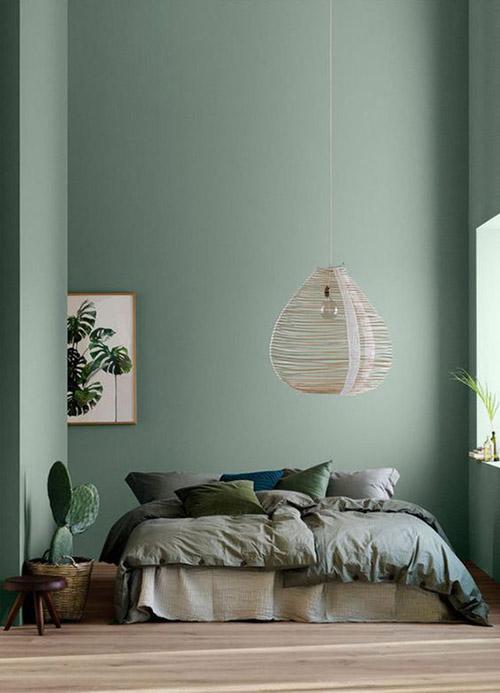 como decorar una habitación en color verde