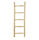 escalera decorativa de madera de teca
