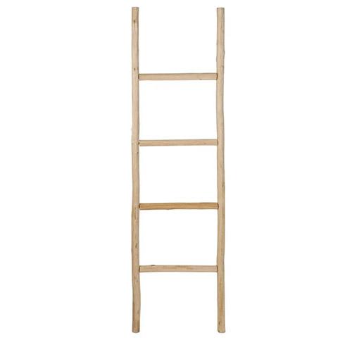 escalera decorativa de madera de roble