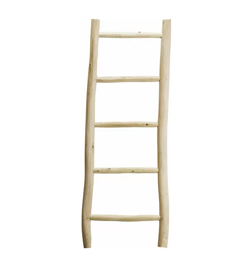 escalera decorativa de madera para la decoración de interiores y exteriores