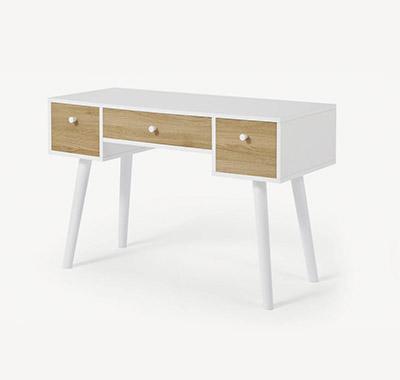 escritorio con cajones blanco