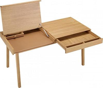 Mesa escritorio con cajones y compartimentos