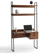 escritorio estantería de madera de estilo vintage