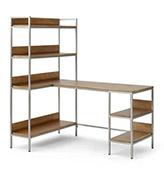 escritorio de esquina ajustable de madera