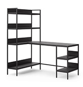 escritorio de esquina ajustable de color negro