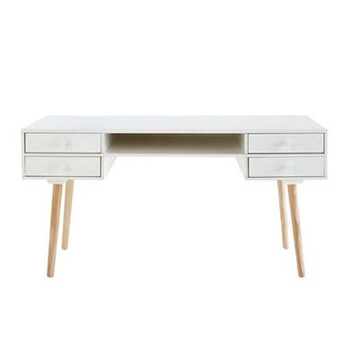 escritorio blanco con cajones