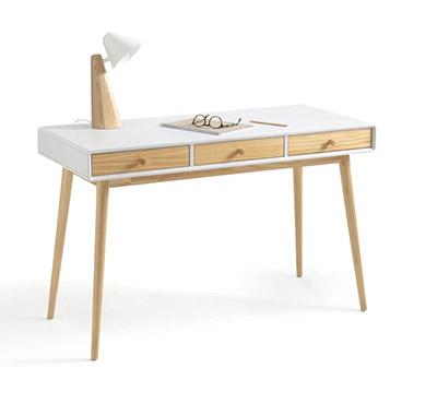 escritorio blanco de diseño y estilo nórdico