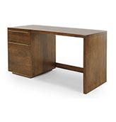 escritorio de madera con cajones vintage