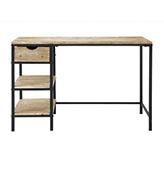 escritorio de metal y madera vintage