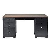 escritorio de metal con cajones vintage