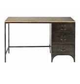 escritorio de metal vintage