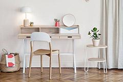 escritorio de estilo nórdico escandinavo