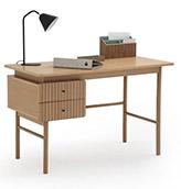 escritorio nórdico con dos cajones