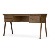escritorio estilo nórdico de madera de roble