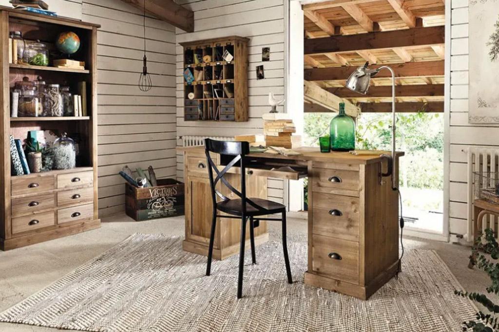 escritorios de madera rústicos