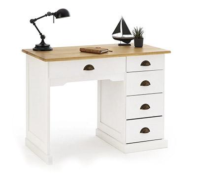 messa escritorio estilo rústico blanco