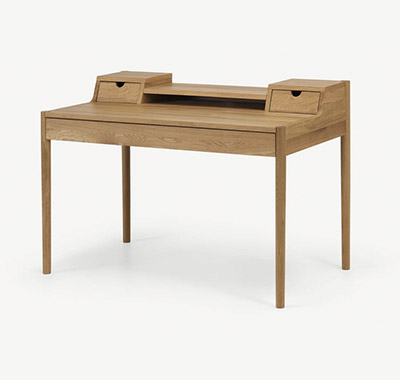 mesa escritorio de madera de roble