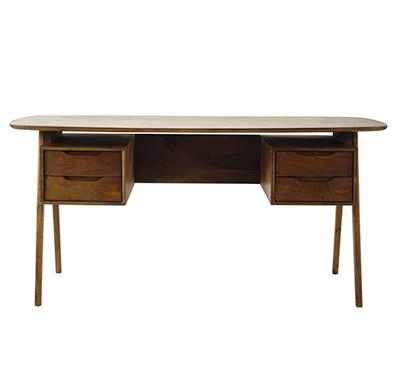 escritorio de diseño vintage de madera