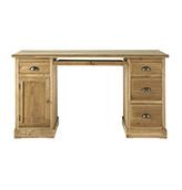 escritorio rústico de madera maciza de abeto