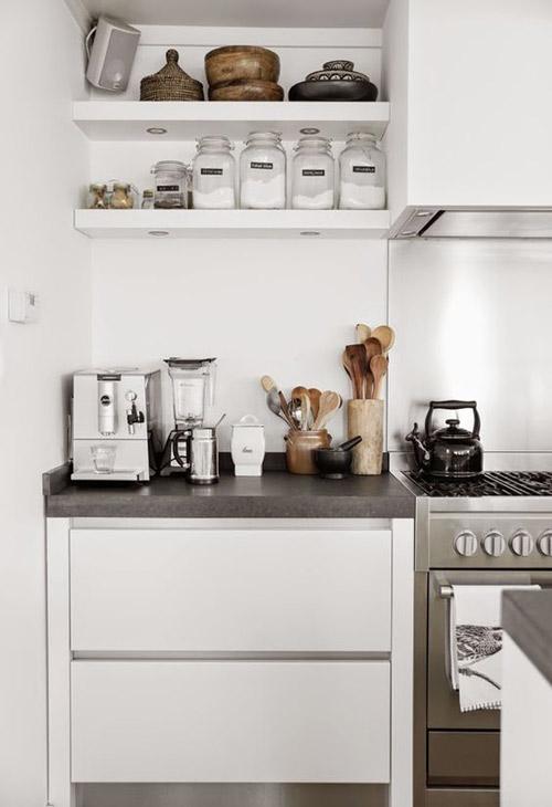 Color blanco para una cocina pequeña