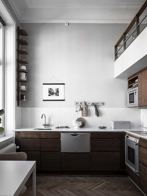gris y marrón para decorar la cocina de casa