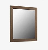 espejo de madera acabado nogal