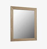 espejo de madera acabado natural