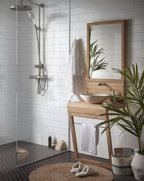 muebles de baño rústicos para la decoración del lavabo