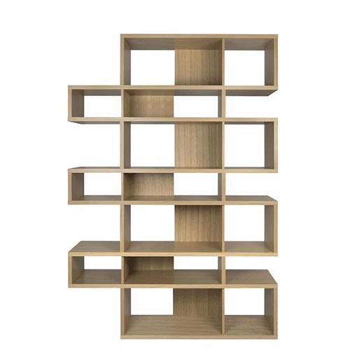 estantería librería de estilo nórdico de madera de roble