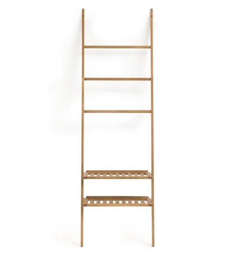escalera estantería de madera para lel baño