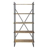 estanteria industrial de madera y metal