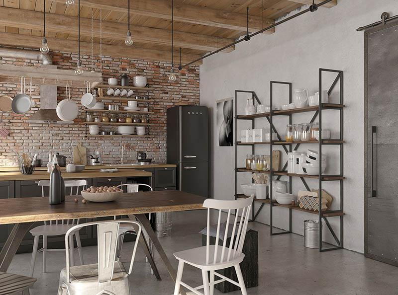 ideas para la decoración de una cocina de estilo industrial