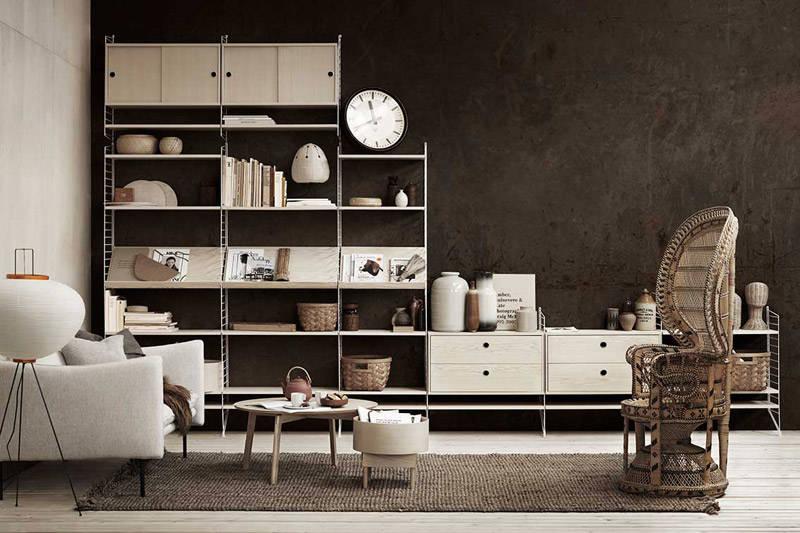 Estanterías string, un clásico del diseño de muebles escandinavo