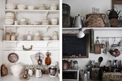 Decoración de cocinas con estantes abiertos