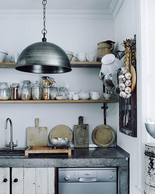 Estanters abiertos en las cocinas de diseño nórdico