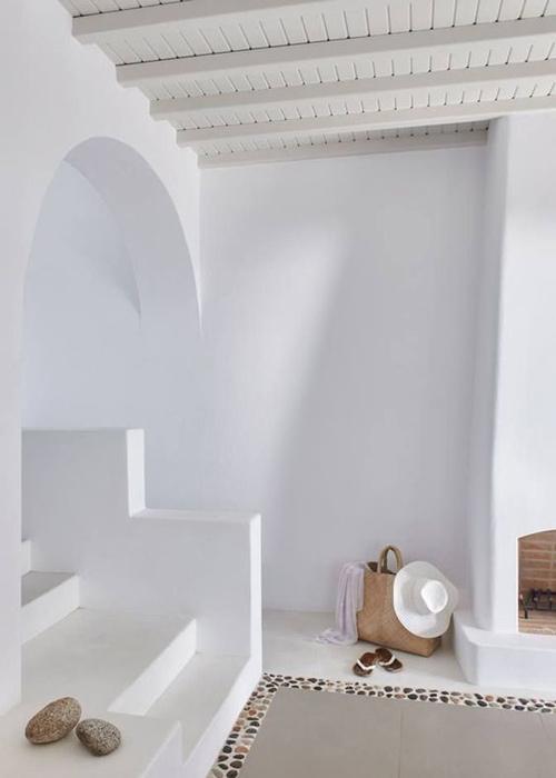 sencillez en las casas mediterráneas griegas