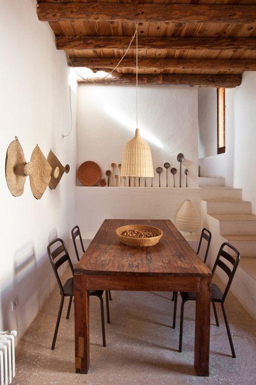 el mimbre en la decoración mediterranea