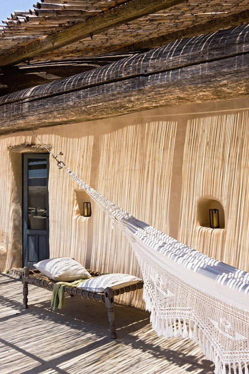 Fachada exterior de una casa de Formentera