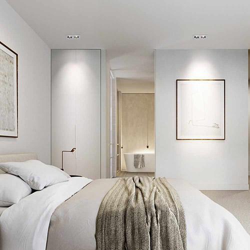 focos empotrables para una habitación moderna